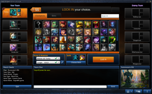 League's Champion Select throws you straight into communication with your teammates.