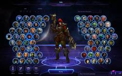 The champion selection screen in HOTS. A lot easier and no interaction with teammates pre-game.