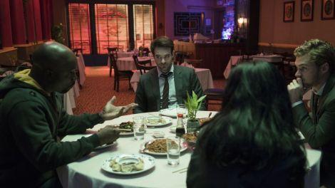 'Defenders' Review A Kickass Marvel Netflix SeriesDinner Scene